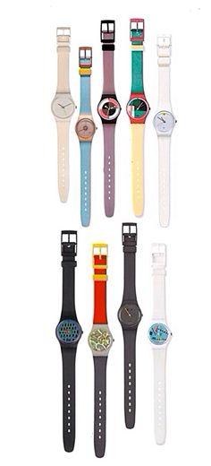 Vintage Swatch Watches | I had the second one on the top row with the pale blue band.