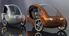 A solar powered bicycle that acts like a car??? Want!