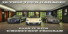 Do you want a garage like this? Join E-MONEY-NOW program!