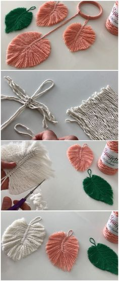 Easy To Make Macrame Feather Leaf Easy To Make Macrame Feather Leaf<br> Easy to make macrame feather leaves. We are always try to show unique ideas and here are these breathtaking macrame feathers. They can be a nice gift or souvenir. Leaf Crafts, Yarn Crafts, Diy Crafts, Feather Crafts, Decor Crafts, Macrame Art, Macrame Projects, Macrame Jewelry, Diy Projects