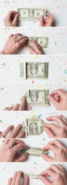 Step 1: Fold the dollar bill in half. Step 2: Fold the... Read more »