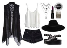 """""""Untitled #18"""" by roxeyturner ❤ liked on Polyvore featuring Levi's, Chicwish, Alexander Wang, Maison Michel, Maybelline and Smashbox"""
