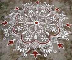 Kolam by Padma Prakash created on durgastami day.