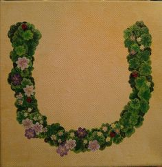 Custom painting for a wonderful client  #4 leafclovers #smallflowers #ladybugs #horseshoe