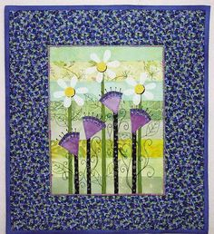 Daisy Doodles Art Quilt Pattern PDF Download