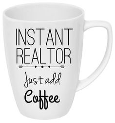 The mug makes the perfect gift for any, Real estate agent, mortgage broker, title closer or anyone in real estate. Want to add your business information or logo to it? Message me via Etsy for more details or create a custom order.