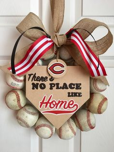 Cincinnati Reds Baseball Wreath by DoorsGoneWild on Etsy https://www.etsy.com/listing/531681484/cincinnati-reds-baseball-wreath