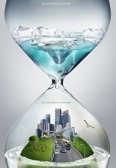 Global Warming Alert Poster.  Running Out of Time (Image Credit: Ferdi Rizkiyanto)