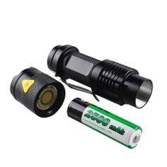 UltraFire SK6-3W Cree XP-E R5 345lm 1-Mode White Light Zooming Flashlight (Black)