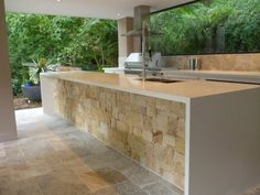 Outdoor Kitchen contemporary kitchen stonework //