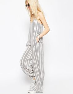 43 euros Casual black and grey stripes jumpsuit