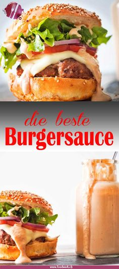 Beste Burgersauce und Besuch an der Luga 2018 Fancy a burger and no sauce at hand? This ultimate and best burger sauce is quick to make and ready to eat. So summer can come and every BBQ and grill party becomes a party. Barbecue Sauce Recipes, Pork Recipes, Hamburger Recipes, Grilling Recipes, Drink Recipes, Best Burger Sauce, Burger On Grill, Turkey Burgers, Veggie Burgers