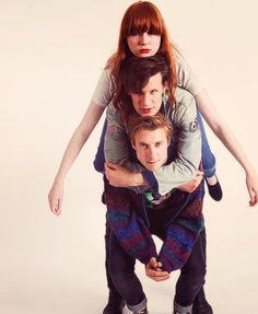 Karen Gillan, Matt Smith, and Arthur Darvill.