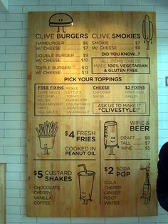 13 Best Photos of Unique Burger Menus - Creative Burger Names, Restaurant Menu Board Ideas and Guy's Burger Menu Houston Deco Restaurant, Restaurant Menu Design, Restaurant Branding, Restaurant Menu Boards, Restaurant Ideas, Burger Bar, Burger Menu, Cafe Design, Food Design