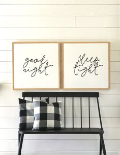 "Good Night, Sleep Tight - 24x24"" Painted Wood Sign SET ( modern farmhouse, master bedroom art, nursery art, fixer upper ) by huntandgathergoods on Etsy https://www.etsy.com/listing/505680896/good-night-sleep-tight-24x24-painted"