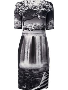 MARY KATRANTZOU Waterfall Print Dress