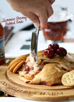 Summer Cherry Baked Brie - fabulous appetizer for a summer cocktail party!