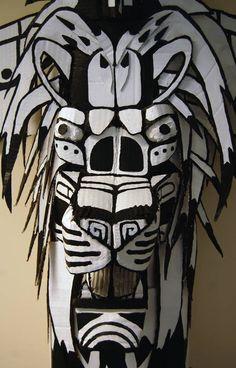 Totem pole Sculpture (cardboard) 3 by CrossIllustration.deviantart.com on @deviantART