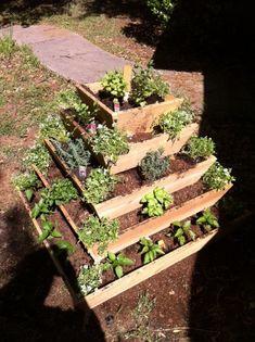 Pyramid Planter, herb garden, strawberry planter, vertical planter