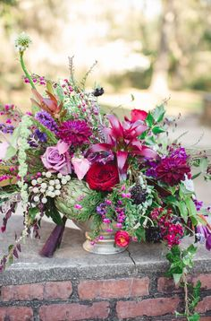 cd-colonial-house-of-flowers-and-Izzy-Huggins-Photography-Romantic-Purple-and-Black-Wedding-Ide. Diy Wedding Flowers, Purple Wedding, Fall Wedding, Wedding Colors, Dress Wedding, Floral Centerpieces, Wedding Centerpieces, Floral Arrangements, Wedding Decorations