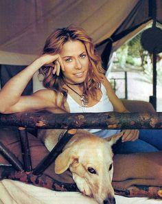 Sheryl Crow with her Dog (2002)