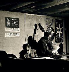 """Bill Evans & Eddie Gomez at the """"Manne Hole"""" 1958"""