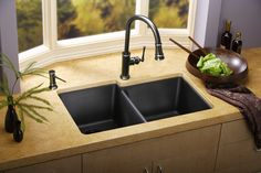 Kitchen:Best Simple Kitchen Sinks Design Ideas For Minimalist Your Kitchen Combined Dark Gray Granite Sinks With Double Bowl Kitchen Sinks And Single Chrome Delta Faucet With Single Handle And Above Beige Quartz How To Select The Best Kitchen Sink Corner Sink Kitchen, Modern Kitchen Sinks, Kitchen Remodel Small, Kitchen Design, Kitchen Decor, Modern Kitchen, Kitchen Sink Design, Small Kitchen Remodel Cost, Granite Kitchen Sinks
