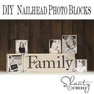 DIY Nailhead Photo Blocks from Shanty-2-Chic.com // Perfect #Christmas gift for ANYONE!