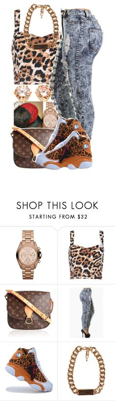"""""""Mama Ceta"""" by dajvuuloaf ❤ liked on Polyvore featuring Michael Kors, Motel, Louis Vuitton and JFR"""