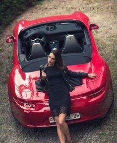 The Red on Black The porsche 991 cabriolet Ferdinand Porsche, 3008 Peugeot, Peugeot 206, Sexy Cars, Hot Cars, Porsche 911, Taxi Moto, Sexy Autos, Model Auto