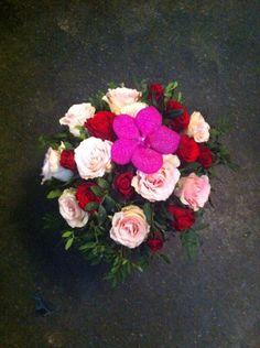 Romantisk Valentinebukett #fra rosa til rødt!