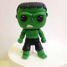 The Incredible Hulk is in the house!    Happy Wednesday!   #TheincredibleHulk #Hulk #Funkopop #originalfunko #sugarcraft #fondant #cake #cakedecorating #cakelook #marvel #StanLee #superhero