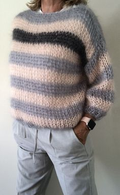 Super Knitting Fashion Sweater Shirts Id Knitting - Diy Crafts - DIY & Crafts Loom Knitting, Hand Knitting, Knitting Patterns, Winter Sweaters, Women's Sweaters, Mohair Sweater, Casual Tops For Women, Unique Outfits, Cardigans For Women