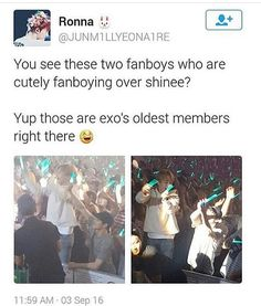 SO CUTE! I love when they support each other ♡ #EXO #SHINee