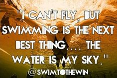 """I can't fly, but swimming is the next best thing - the water is my sky.""…"