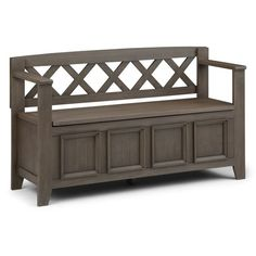 WYNDENHALL Halifax SOLID WOOD 48 inch Wide Transitional Entryway Storage Bench - 48 Inches wide - On Sale - Overstock - 7326885 Entryway Bench Storage, Bench With Storage, Storage Benches, Mudroom Benches, Wooden Benches, Thing 1, Storage Compartments, Space Furniture, Solid Wood