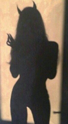 Not the whole devil thing but just cute photos with a shadow illusion - -