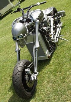 One of a Kind Motorcycle Masterpiece – IronDeath Skeleton Bike – RonSusser.com