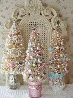 ....on Tumblr. Pretty easy to make. Styro cone with ornaments, jewelry and garland and such glued to the cone form...