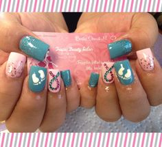 Pregnancy and infant loss awareness nails