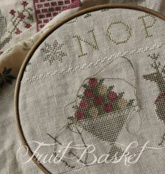 With thy Needle & Thread Cross Stitch Samplers, Cross Stitching, Cross Stitch Embroidery, Free Cross Stitch Charts, Wooden Hoop, Christmas Cross, Needle And Thread, Primitive, Ornaments