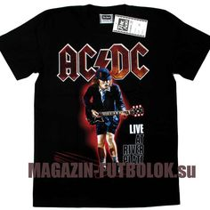 Angus Young футболка AC DC Live at River Plate