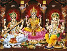 Lakshmi Ganesh Saraswati Wallpaper Free Download