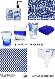 Zara Home blue and white collection