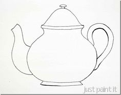 Mothers Day Teapot Card Template