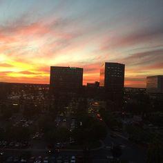 A fall sunset in Costa Mesa, Orange County, CA.