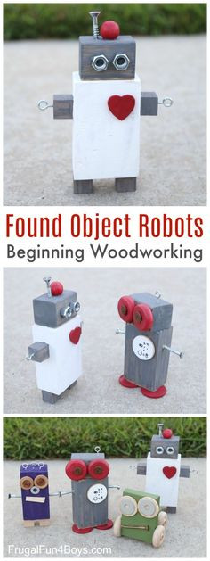 Found Object Robots: Beginning Woodworking Project for Kids
