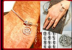 Mens Bracelets – Silver Personalized Bracelet,LOTUS Fortun Talisman – a unique product by CamelysUnikatBijoux on DaWanda