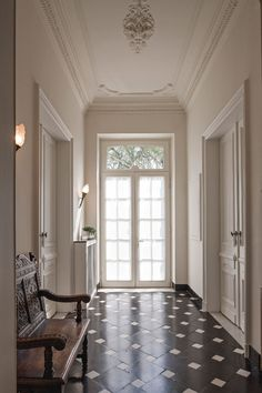 Restoration of Château du Wez. Project by B+villas. Via the magazine Home Sweet Home.
