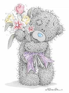 Мишка Тедди - Детские схемы. Мишки - Схемы вышивки - Иголка Tatty Teddy, Teddy Bear Images, Teddy Bear Pictures, Blue Nose Friends, Cute Images, Cute Pictures, Pictures Images, Photos, Calin Gif